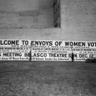 1915 WOMEN SUFFRAGE SIGN PHOTO BILLBOARD VINTAGE VOTE