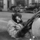 1915 WOMAN AUTO RACER VINTAGE PHOTO SEXY PRETTY FASHION