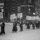 1917 WOMEN SUFFRAGE MARCH SIGN VINTAGE PHOTO POLITICAL