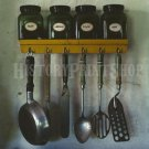 KITCHEN UTENSILS SPICE RACK VINTAGE PHOTO SAGE MINT OLD