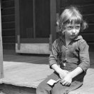 DEPRESSION CHILD COAL MINER PHOTO VINTAGE POST WOLCOTT