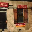 COCA COLA RC ROYAL CROWN ORANGE CRUSH SODA PHOTO VINTAGE WINDOW SHOP 1940