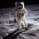 BUZZ ALDRIN MOON PHOTO SPACE ASTRONAUT APOLLO 11 WALK