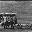 WALKER EVANS PHOTO DONKEY CART MINSTREL SHOW POSTER SHOW GIRLS BRICK WALL MULE