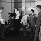 1943 SOLDIER PHOTO VINTAGE MEN SHOWER UNIFORM OLD SEXY