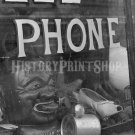 1943 PAWN SHOP WINDOW VINTAGE PHOTO SHOP PHONE SHOE OLD