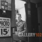 VINTAGE PHOTO BOOTH OFFICER MILITARY UNITED NATIONS 40S