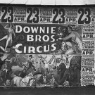 DOWNIE BROS CIRCUS POSTER WALKER EVANS PHOTO ACROBAT AD VINTAGE 1936