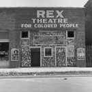 REX THEATER FOR COLORED PEOPLE OLD NEGRO AFRICAN AMERICAN SHOP DOROTHEA LANGE 1937 VINTAGE