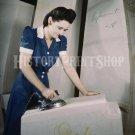 GOODYEAR VINTAGE WOMAN WORKER PHOTO WWII FACTORY REAL ROSIE THE RIVETER 1941