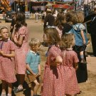 CARNIVAL FAIR MIDWAY RIDE GIRLS DRESS PHOTO VINTAGE 1941 VERMONT STATE FAIR