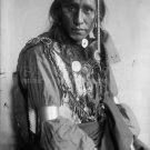 NATIVE AMERICAN PHOTO WHITE WAR BONNET INDIAN BUFFALO BILL'S WILD WEST SHOW VINTAGE 1900S OLD
