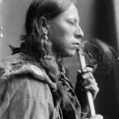 NATIVE AMERICAN PHOTO TAKES ENEMY INDIAN 1900 BUFFALO BILL'S WILD WEST SHOW VINTAGE
