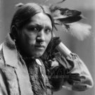 NATIVE AMERICAN PHOTO PLENTY WOUNDS INDIAN 1900 BUFFALO BILL WILD WEST SHOWVINTAGE