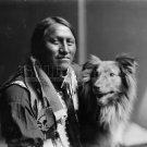 NATIVE AMERICAN PHOTO CHARGING THUNDER OLD INDIAN PART OF BUFFALO BILL'S WILD WEST SHOW 1900S
