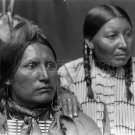 NATIVE AMERICAN PHOTO AMERICAN HORSE AND WIFE INDIAN 1900S