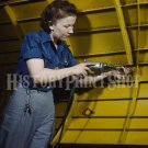 1943 WOMAN WORLD WAR 2 WORKER PHOTO REAL ROSIE THE RIVETER WWII BOMBER