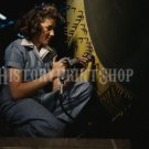 1942 WOMAN WORKER PHOTO REAL ROSIE THE RIVETER WWII BOMBER PLANE WORLD WAR 2
