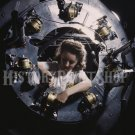 1942 WOMAN WORKER PHOTO ROSIE RIVETER WWII B-25 BOMBER PLANE ENGINE