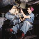 1942 WOMAN WAR WORKER PHOTO ROSIE RIVETER WWII BOMBER