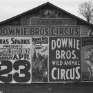 DOWNIE BROS CIRCUS WALKER EVANS POSTER PHOTO BIG 3 RING CIRCUS SEAL LYNCHBURG 1930s