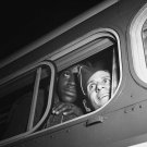 1943 SOLDIER PHOTO GREYHOUND BUS MEN VINTAGE MILITARY