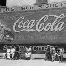 COCA COLA PHOTO SIGN VINTAGE WALL MAIN STREET GEORGIA