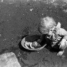 DEPRESSION CHILD BABY PHOTO VINTAGE DOLL POST WOLCOTT