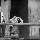 DEPRESSION CHILDREN PHOTO VINTAGE POST WOLCOTT COAL 1938