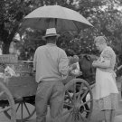 FOOD CART UMBRELLA POST WOLCOTT PHOTO VINTAGE NANCHEZ
