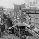 1907 CHICAGO WABASH AVE VINTAGE PHOTO OLD DOWNTOWN IL