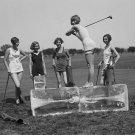 WOMEN GOLF BATHING SUIT 1920'S VINTAGE PHOTO RETRO GIRL