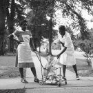 AFRICAN AMERICAN WOMEN WITH WHITE BABY PHOTO VINTAGE MARION POST WOLCOTT