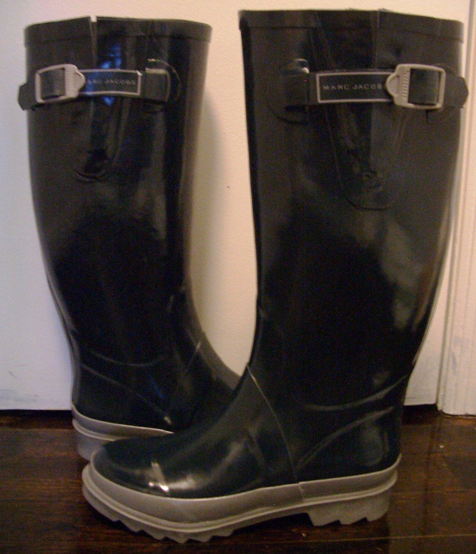 marc by marc jacobs women 39 s rain boots size 9 dark navy. Black Bedroom Furniture Sets. Home Design Ideas
