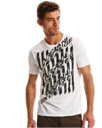 Armani Exchange Optic Logo T Shirt Tee White size LARGE
