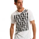 Armani Exchange Optic Logo T Shirt Tee White size LARGE