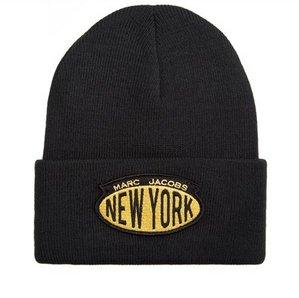 MARC JACOBS Acrylic Ski Winter Hat Skully Beanie Hat NEW YORK