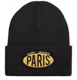MARC JACOBS Acrylic Ski Winter Hat Skully Beanie Hat PARIS