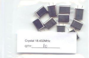 10pcs - 18.432MHz CRYSTALS (18.432 MHZ) - Bargain!