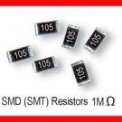 50pcs - 1M Ohm SMD Resistor 0805 1/8W 5% (1 M SMT)