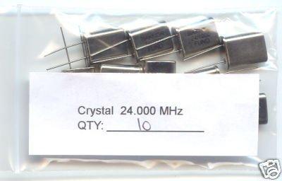 10pcs - 24MHz CRYSTALS (24.00 MHZ 24) - Bargain!