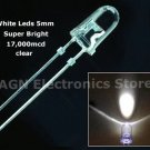 15pcs - 5mm super bright 17000mcd WHITE leds. WOW!!