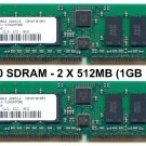 2 X 512MB PC3200 400MHZ DDR RAM KIT 184pin (1GB total)