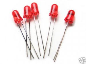 50pcs - Red Leds 5mm (Light Emitting Diode). Bargain!