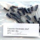 25pcs - 22uF Electrolytic Capacitor 50V (uF 22 Mf 22mF)