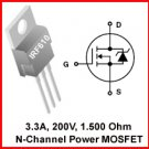 15pcs - IRF610 N-Channel MOSFET 200V 3.3A (IRF 610)