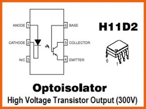 10pcs- OPTOISOLATOR MOTOROLA H11D2 (H11D1 optocoupler
