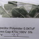 25 X 0.047uF Polyester Film Capacitors 0.047 MF 47nF