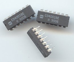 10pcs- CD4001 Quad 2-Input NOR gate. 14-DIP (CD 4001)