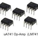 10pcs - uA741 Op-Amp 8-Pin Dip (LM 741 uA 741 LM741)